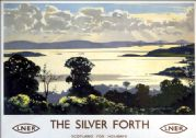 The Silver Forth seen from Fife. Midlothian and West Lothian . LNER Vintage Travel Poster by Norman Wilkinson. 1935